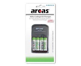 ARCAS 2009 akkutöltő+4db 2700-as AA akku