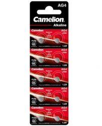 1,5V Camelion AG4(LR66,177,LR626) alkáli gombelem 0% HG bl/10