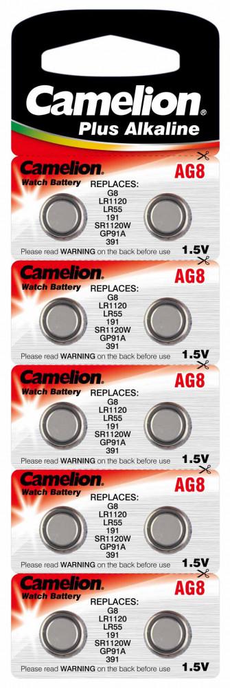 1,5V Camelion AG8(191,LR55,LR1120) alkáli gombelem bl/10