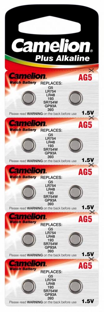 1,5V Camelion AG5(LR48,194,LR754) alkáli gombelem bl/10