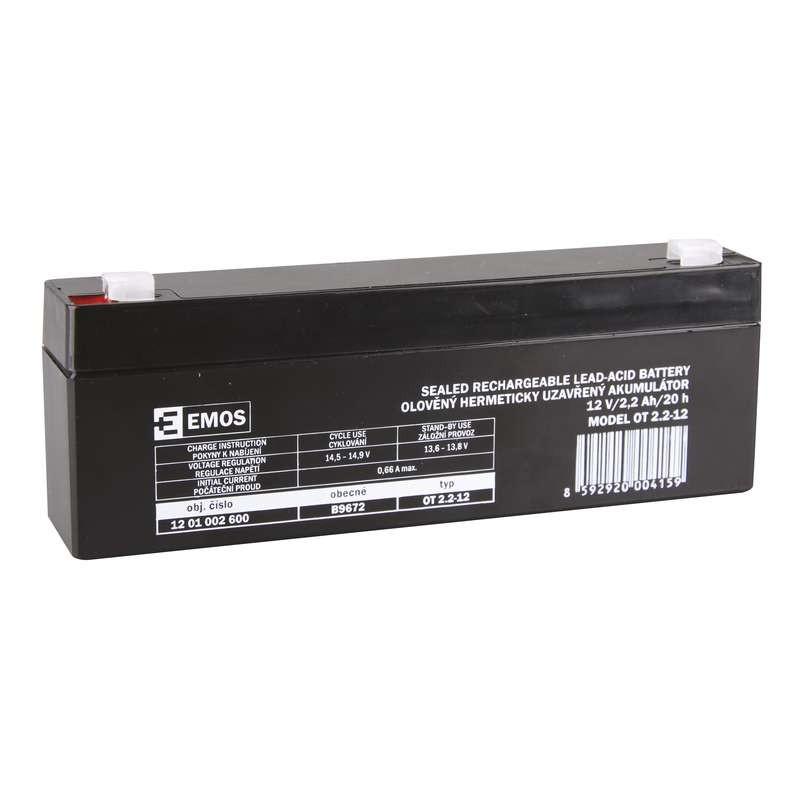 Zárt savas akkumulátor 12V/2,2Ah  178x35x61mm