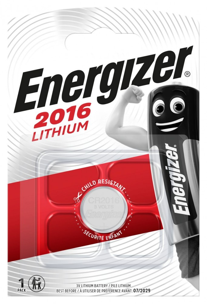 Energizer CR2016 lithium gombelem 3V bl/1