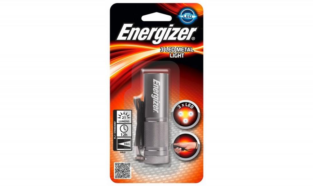 Energizer elemlámpa 3 LED Metal Light 3xAAA