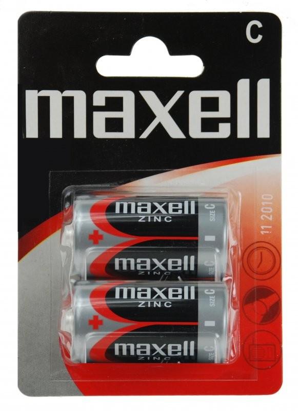 1,5V Maxell féltartós baby C (R14) elem BL/2