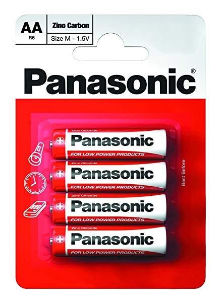Panasonic Zinc féltartós elem ceruza AA (R6)bl/4