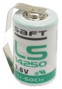 "SAFT lithium elem 3,6V 1/2 AA (1/2 ceruza) LS14250 ""U"" forrfüllel"