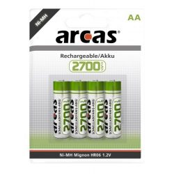 ARCAS 2700mAh Ni-Mh ceruza akku AA 4db/bl