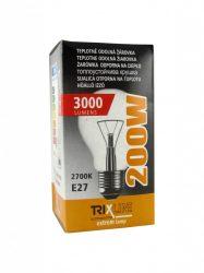 Trixline 230V/200W hagyományos izzó E27 menettel
