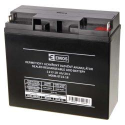 EMOS 12V/18Ah zárt,savas ólomakkumulátor 181x76x167mm B9655