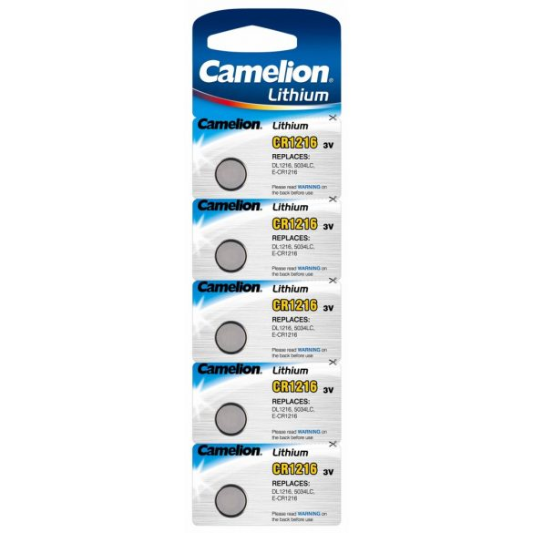 3V-os Camelion CR1216 lithium gombelem bl/5