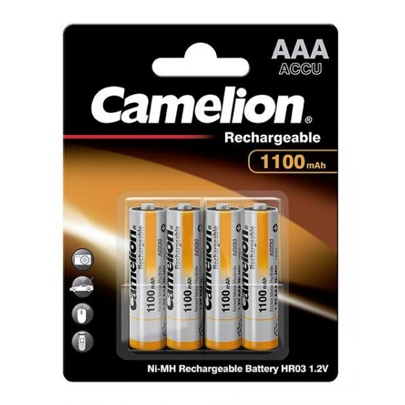 Camelion NI-Mh akku mikró AAA (HR3) 1100 mAh bliszter/4