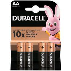 Duracell Basic AA MN1500 ceruza (LR6) alkáli elem bl/4