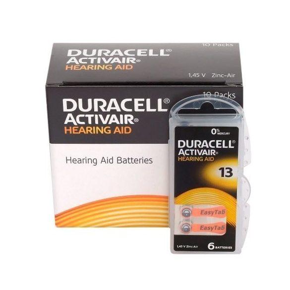 """Duracell  ACTIVAIR  hallókészülék elem """"13"""" (PR48)  BL/6"""