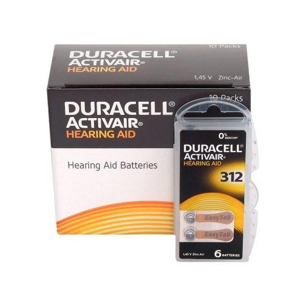 """Duracell  ACTIVAIR hallókészülék elem """"312"""" (PR41)  BL/6"""