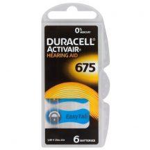 """1,4V Duracell EASYTAB hallókészülék elem """"675"""" BL/6"""