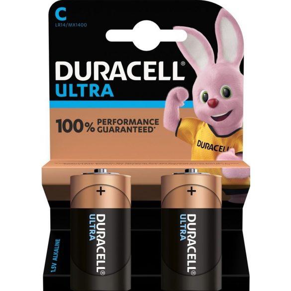 Duracell Ultra C MX1400 baby (LR14) alkáli elem bl/2