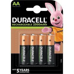 Duracell 2500mAh Recharge NI-Mh ceruza akku AA (HR6) bl/4