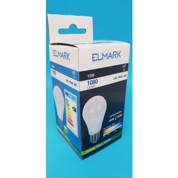 ELMARK LED PEAR (körte) A60 E27 12W 4000K 1080 lumen