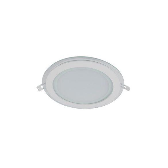 ELMARK süllyesztett kerek, üveg LED panel 18W IP40 4000K, 1440lm, D200mm