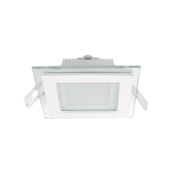 ELMARK süllyesztett üveg LED panel 6W IP40 2700K, 480lm, 97x97mm