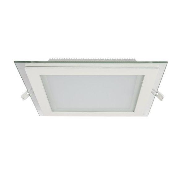 ELMARK süllyesztett üveg LED panel 18W IP40 4000K, 1440lm 200x200mm