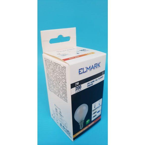 ELMARK LED GLOBE 2W E14 2700K P45 200 lumen FILAMENT
