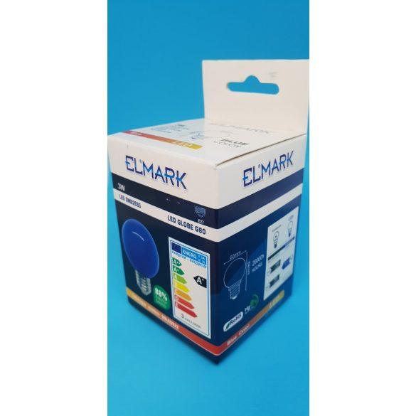 ELMARK LED GLOBE (gömb) G60 E27 3W BLUE (kék)