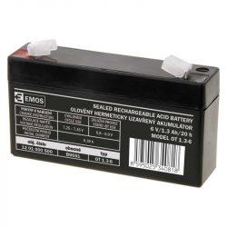 EMOS 6V/1,3Ah zárt,savas ólomakkumulátor 97x24x51mm Faston 4,7mm B9651