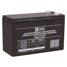 Zárt savas akkumulátor 12V/7,2Ah 151x65x95mm Faston:4,8