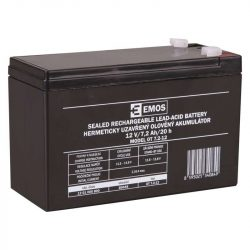 EMOS 12V/7,2Ah zárt,savas ólomakkumulátor 151x65x94mm Faston:4,7mm  B9654