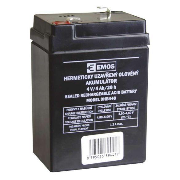 EMOS 4V/4Ah zárt savas ólomakkumulátor 70x 47x101mm P2306-hoz B9664
