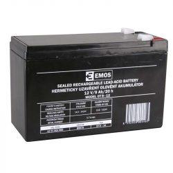 EMOS 12V/9Ah zárt,savas ólomakkumulátor 151x65x94mm Faston 6,3mm  B9675