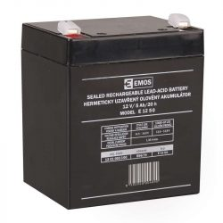 EMOS 12V/5Ah zárt,savas ólomakkumulátor 91x71x105mm Faston 6,3mm B9679