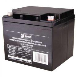 EMOS 12V/40Ah zárt,savas ólomakkumulátor 196×166×175mm B9684