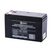 EMOS 12V/7Ah zárt,savas ólomakkumulátor 151x65x95mm Faston 4,7mm B9691