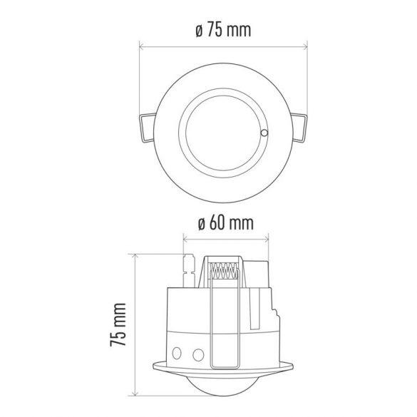 EMOS Mozgásérzékelő (MW) IP20 8m 360° G1190