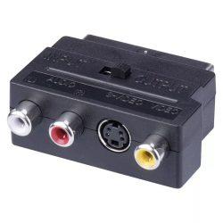 EMOS Átalakító scart<->3cinch+svhs K9304