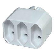 EMOS ELOSZTÓ 3x aljzat,szögletes,fehér P0013