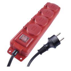 EMOS ELOSZTÓ (HOSSZABBÍTÓ) 4 ALJZAT 3m 1,5mm IP44 piros P14231