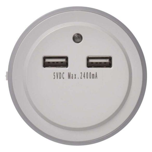 EMOS ÉJJELI FÉNY 3 LED, 2× USB