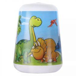 LED éjjeli lámpa gyerekeknek Dino, 3× AAA