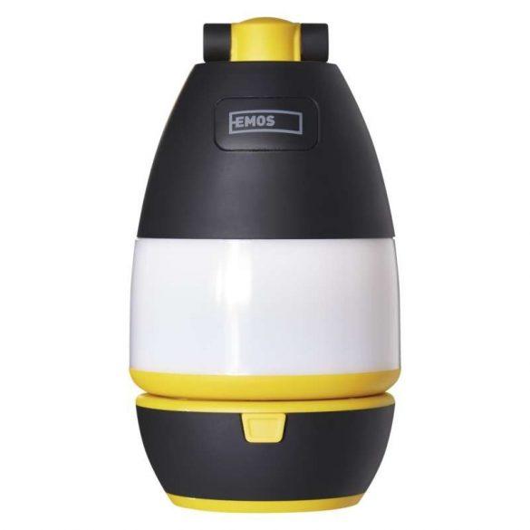 LED-es multifunkciós kempinglámpa P4008, 215 lm, 3×AA