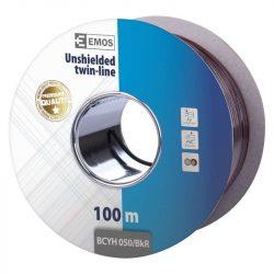 EMOS HANGFALKÁBEL 2*0.50mm FEKETE/PIROS 100m (S8250)