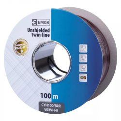 EMOS Hangfalkábel 2*1.00mm fekete/piros 100m S8280