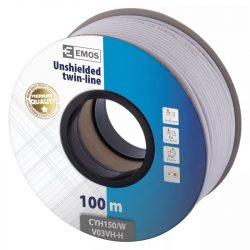 EMOS Hangfalkábel 2*1.50mm fehér 100m S8291