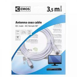 EMOS Antenna koax kábel 90° 3,5m SD3103
