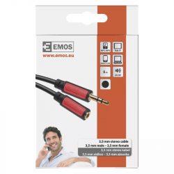 EMOS Jack kábel 3.5mm ST dugó-3.5mm ST dugalj 5m SM5105