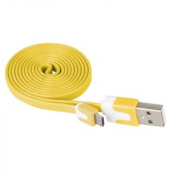 Emos USB 2.0 kábel  USB A dugó-USB mikró B dugó,SÁRGA,1 méter SM7001Y