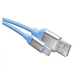 EMOS USB KÁBEL 2.0 A DUGÓ - C DUGÓ 1M KÉK SM7025B