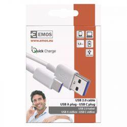 EMOS USB kábel 2.0 A - C csatlakozó 1.5m SM7026